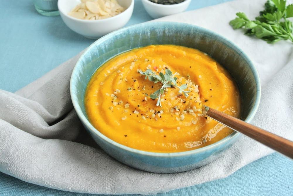 Rýchla batátovo - šošovicová polievka