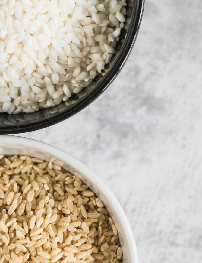 Hnedá verzus biela ryža