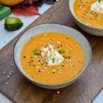 Sýta tekvicová polievka s červenou šošovicou