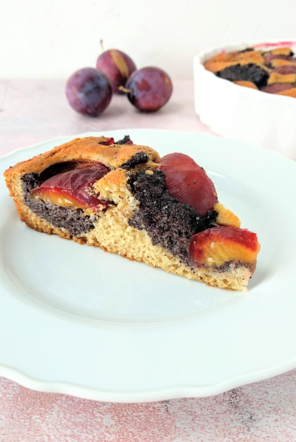 slivkovo-makový bezlepkový koláč