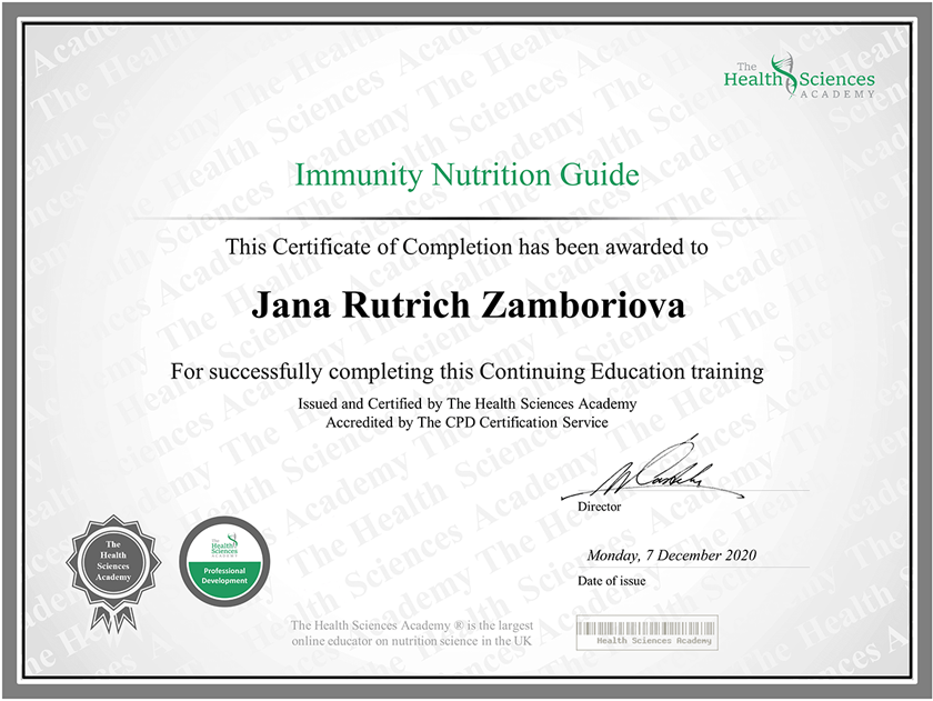 imunita a výživa