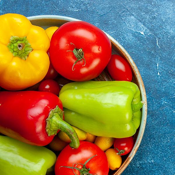 paprika a paradajky