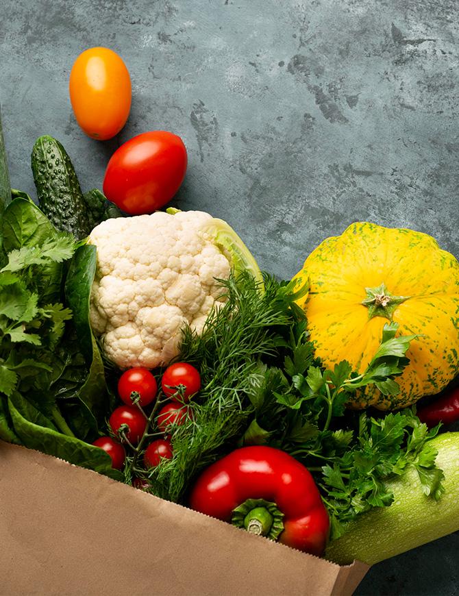 rozne druhy zeleniny