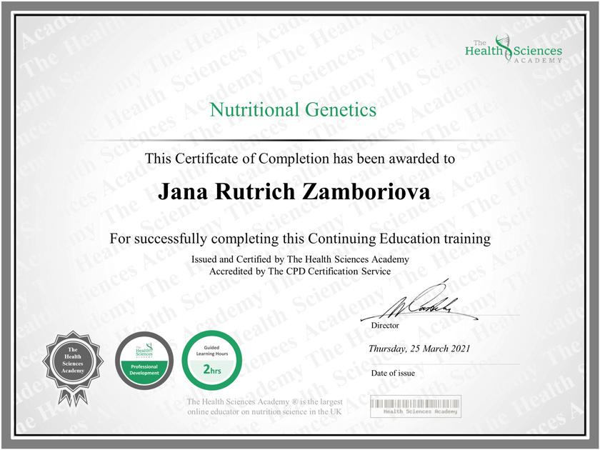 nutričná genetika
